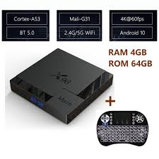 <b>X96 Mate 4</b>+64GB Android 10.0 Smart TV Box Dual Wifi 3D ...
