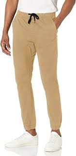 WT02 Mens Jogger Pants in Basic <b>Solid Colors and</b> Stretch Twill ...