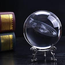 Online Shop <b>3D laser Engraved</b> Solar System Crystal Ball ...