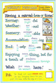 travelling holidays vacation esl resources writing a postcard