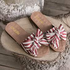 <b>Liren 2019 Summer</b> Sweet Bow Slippers Sandals Flat Heels Open ...
