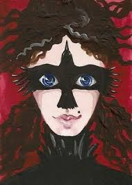 ACEO <b>PRINT</b> of PAINTING RYTA <b>HALLOWEEN</b> CROW RAVEN ...