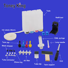 Toney King <b>4 Color Diy Ciss</b> Ink System For HP 300 XL Ink Cartridge ...