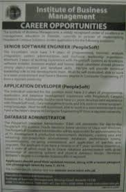 database administrator job archives jhang jobs database administrator job institute of business management job senior software engineer application developer