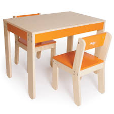 kids table and chairs  orange