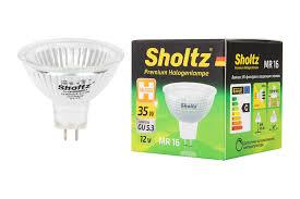 <b>Лампа галогенная SHOLTZ MR16</b> GU5.3 35Вт 2800K 12В DIMM