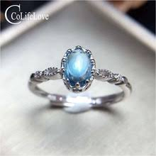 Женское Винтажное <b>кольцо</b> colife, из серебра с <b>топазом</b>, <b>4</b> мм * 6 ...