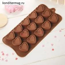 <b>Форма силиконовая</b> для шоколада <b>Сладкое сердце</b> купить ...