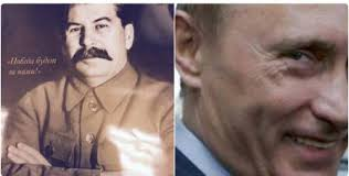 Portraits of Stalin <b>hang in</b> police offices in Putin's Russia
