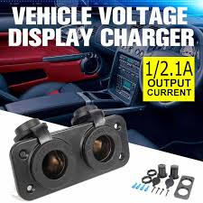 3.1A 5V Dual USB Charger Car <b>Motorcycle</b> Cigarette Lighter Phone ...