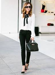 black and white outfit more chic office ideas 1000
