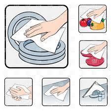 hand wiping napkin restaurant kitchen work vector image hand wiping napkin restaurant kitchen work click to zoom