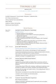 human resources coordinator resume samples resume assistant human resources coordinator resume samples