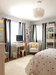 a teen bedroom makeover in black and white stripes polka dots and accents of gold create this sophisticated look with bedding accessories and furniture bedroom furniture for teenagers