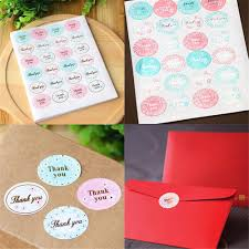 "<b>120Pcs</b>/5 sheets Oval ""<b>Thank</b> You"" Adhesive Seal Sticker Label ..."