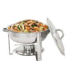 <b>New Round</b> Chafing Dish 5 Quart <b>Stainless Steel</b> Full Size Tray ...