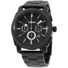 Купить <b>часы Fossil</b> Machine Quartz Movement Black Dial Men's ...