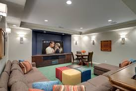 basement lighting ideas combined with some exceptional furniture make this basement look exceptional 13 basement lighting ideas