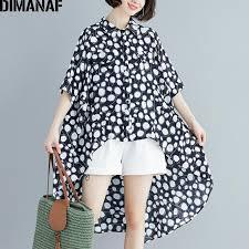 2019 <b>DIMANAF Plus Size Women</b> Blouse Long Shirt Big Size ...