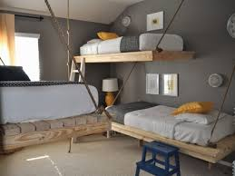 awesome white grey wood glass unique design boys bedroom ideas boy room floating wood bed white chairs bedrooms unique