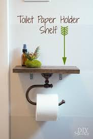 bathroom decor ideas unique decorating: toilet paper holder shelf and bathroom accessoriesdiy show off a diy decorating and home improvement