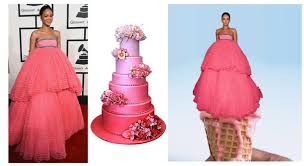 Rihanna's Grammy dress and the Instagram jokes that follow via Relatably.com