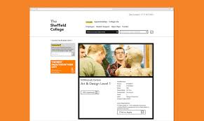 website the sheffield college by field design since the launch of the website the college has seen considerable improvements in bounce rate a 16% drop and improvements in average session duration