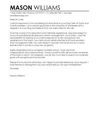 best accounting clerk cover letter examples livecareer edit