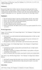 professional high school athletic director templates to showcase    resume templates  high school athletic director