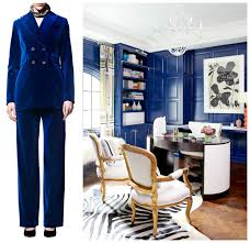 pantone royal blue for wall as lux as velvet go lacquer fashion blue office decor