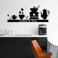 Vinyl Wall Sticker Decals Coffee Machine Coffee Machine <b>Tea Cup</b> ...