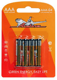 <b>Батарейка AAA</b> LR03 (<b>AIRLINE</b>) (4шт) <b>AAA</b>-04