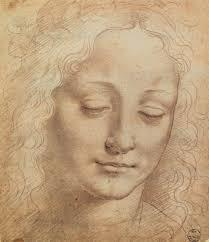 art artists leonardo da vinci part  female head charcoal chalk on paper