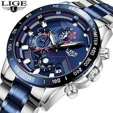 <b>Relogio Masculino</b> LIGE Hot Fashion Mens <b>Watches</b> - Onobs Boutique
