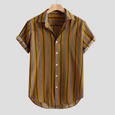 Striped Buttons Shirts 2019 <b>Men Summer</b> Fly Breathable Short/Long ...