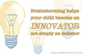 Brainstorming 101/ Jump-start Your Child's Thinking » Miss B.'s ...