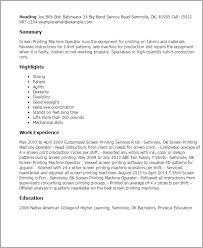 Cnc Machine Operator Resume samples Brefash