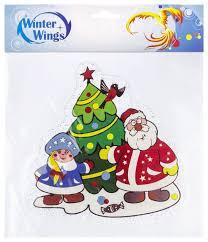 Наклейка интерьерная <b>Winter Wings</b> Новый год, 15 см, N09430 ...