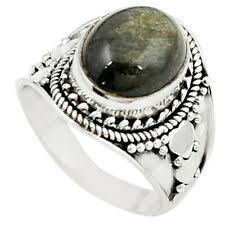 <b>Обсидиан</b> 7.5 <b>кольцо</b> необлагороженные тонкой драгоценный ...