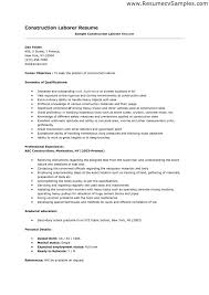 sample resume objectives laborer professional resume cover sample resume objectives laborer sample of general laborer resume resume examples and laborer resume examples template