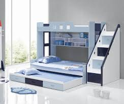 astonishing cool kid beds with blue white wooden bunk bed frame be equipped storage stair and amusing cool kid beds design