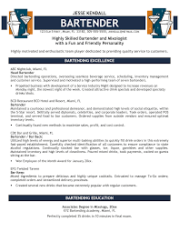 examples of a bartender resume   cover letter exampleexamples of a bartender resume unforgettable bartender resume examples to stand out bartender resume sample download