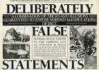false statement