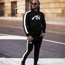 <b>FRMARO 2019</b> Men Sportswear Hoodies Pants Set <b>Autumn</b> Track ...
