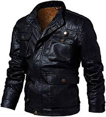 OSTELY Leather Jackets for Men Autumn Winter Plus ... - Amazon.com