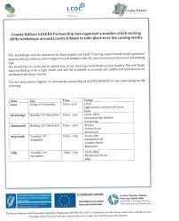 job seeking skills workshops around county kildare to take place job seeking skills workshops around county kildare to take place over the coming week