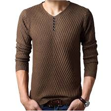 M-4XL Winter <b>Henley Neck</b> Sweater #sweater #pullover #cashmere ...