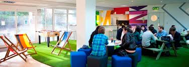 new office design ideas. cool office design ideas funky breakout area for digital media company new s