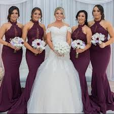 <b>New Hot Purple</b> Grape Mermaid Bridesmaid Dresses <b>2019</b> Elegant ...