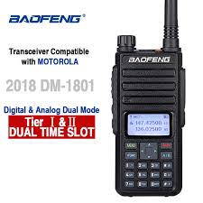 <b>Baofeng DM 1801</b> DMR Radio Dual Band <b>Walkie Talkie</b> Tier I Tier II ...